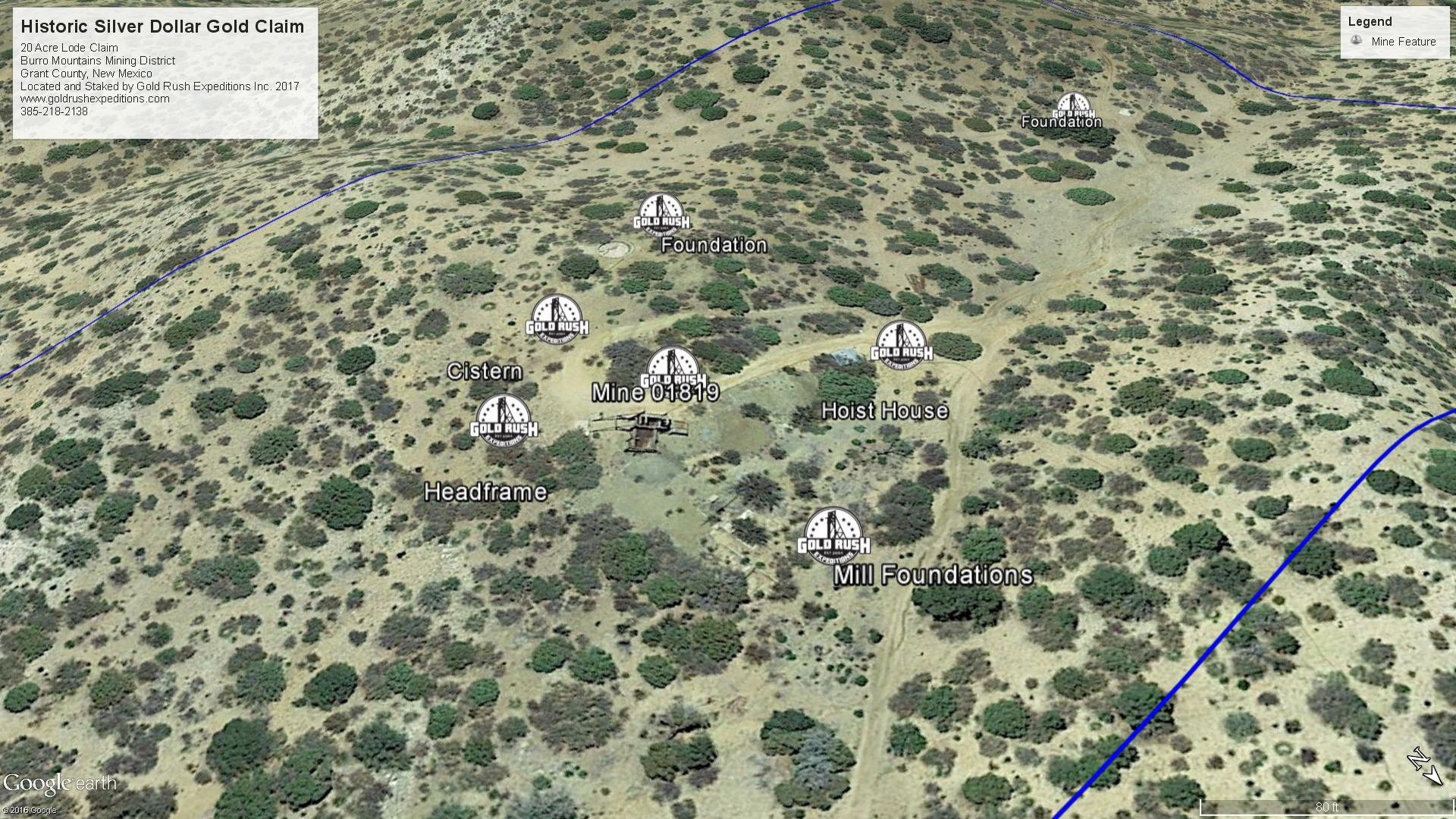 Gold Rush Expeditions, Inc Silver Dollar Mineral Property Map